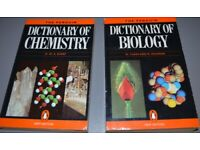 Chemistry and Biology Dictionary Books/book - Packaging costs are free if posted