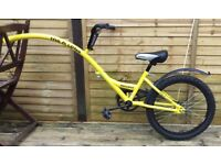 Ammaco yellow tag along 20 inch folding trial bike