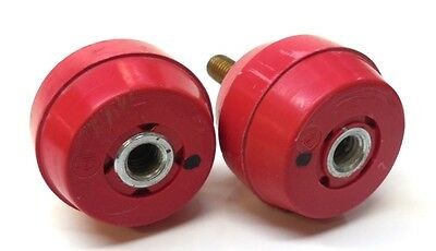 "GLASTIC ELECTRICAL STANDOFF INSULATOR, 3/8"" BOLT THREAD, LOT OF 2"