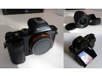 Sony Alpha A7 Mirrorless Full Frame Digital Camera with 28-70mm Lens. Excellent condition.