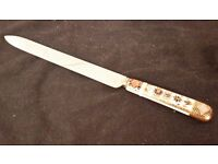 ROYAL CROWN DERBY IMARI 1128 LARGE BREAD CUTTER