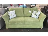 Fabric lime green sofa bed