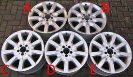 Mercedes 18-inch S-Class Alloy Wheels, WILL SPLIT, FRONT (8.5J) A2214011902, REAR (9.5J) A2214011502