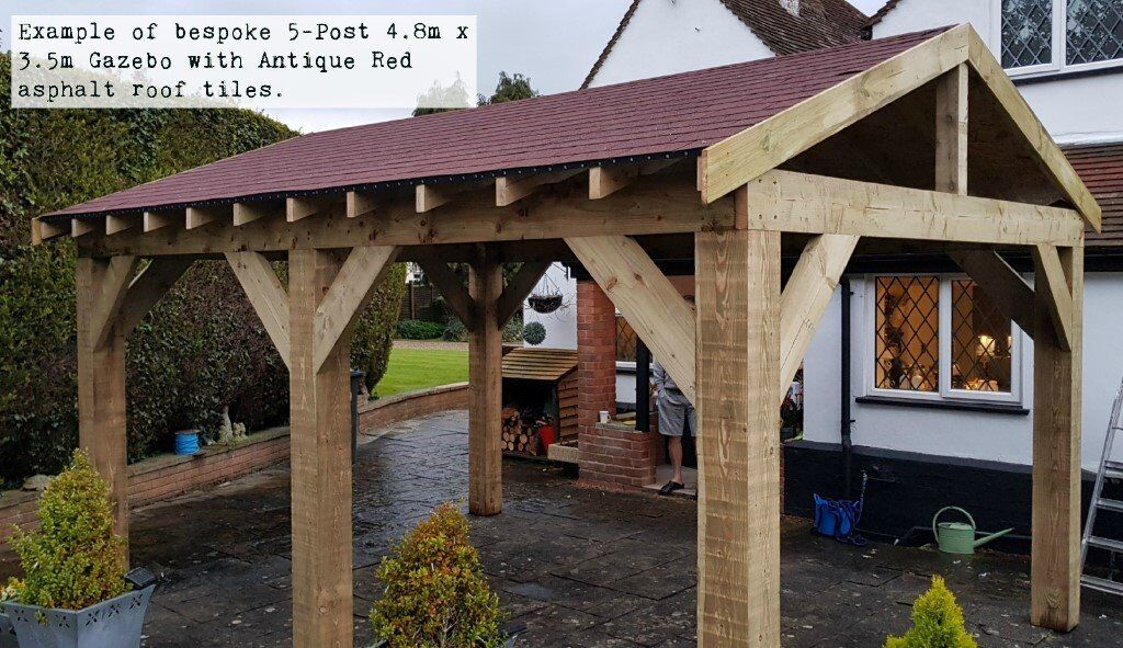 5-Post 4 6m x 3m Timber Gazebo / Hot Tub Canopy DIY Kit - various roof  options extra | in Chesterfield, Derbyshire | Gumtree