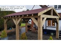 4.6m x 3m 5-Post Timber Gazebo / Hot Tub Canopy DIY Kit - various roof options extra
