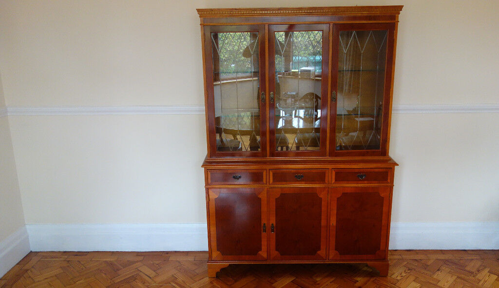 Reproduction Antique Style Dining Cabinet