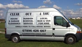 Man (or men) and large van available. Always friendly, professional and as cheap as possible.