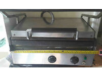 Electric commercial double contact griddle for toasties, panini etc