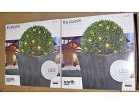 2 x Unused Boxed Buxbom 35 cm diameter LED Balls
