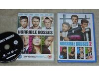*NEW* Horrible Bosses 2 (DVD, 2015) & Horrible Bosses (DVD, used but in very good condition)
