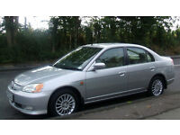 Honda Civic 1.4 Hybrid IMA 2003 SE Executive Manual 4 dr, New Mot,Silver,Leather interior,46 k miles