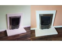 Flavel Orhestra Balanced Flue Gas Fires with Hearth Stones and Surrounds - £700 for both / £400 each