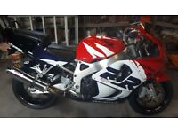 Honda CBR 900 RR Fireblade, year 2000. Grey import.