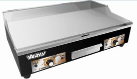 New Commercial Electric Griddle - 73 cm - smooth - 2 x 3200 W
