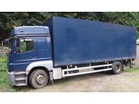 Very Clean Mercedes Benz Axor 18 ton Sleeper Cab Tail lift Box Truck £7950,- excluding VAT