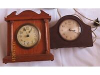 Bakerlite / Wood clocks