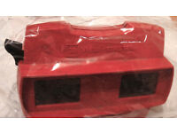 Retro Vintage (Red) '3D-view-master' type glasses (mid-century vr stereoscopic viewer) £33