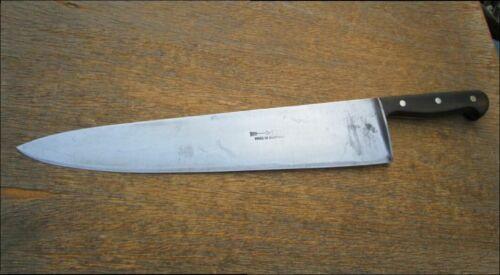 "HEAVY-DUTY Vintage F. DICK Germany 20"" Carbon Steel Chef Knife - RAZOR SHARP"