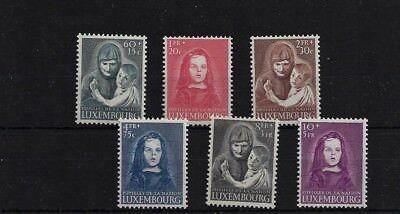 LUXEMBOURG SG533/8, 1950 WAR ORPHANS FUND MNH, CAT £150