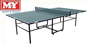NEW PROFESSIONAL TOURNAMENT GREEN FOLDING FULL SIZE FOLDAWAY TABLE TENNIS INDOOR