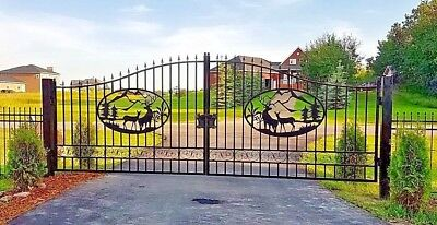 NEW DRIVEWAY WROUGHT IRON ORNAMENTAL ENTRANCE GATE 20 FT