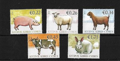 CYPRUS SG1212/16, 2010 FARM ANIMALS MNH