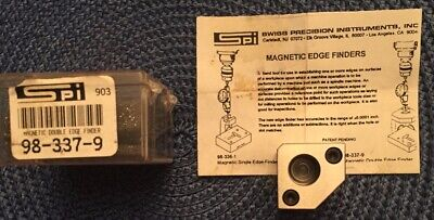 Spi Magnetic Double Edge Finder Toolmakers Kneeporch Precision 0.0001