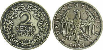 WEIMAR 2 Mark J.320 1931G besseres Jahr / Mzz. ss/ss-vz