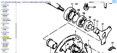SUZUKI NOS OEM -33370-34000 - Ignition Timing Plate NIPPON DENSO GT550 - 1972-77