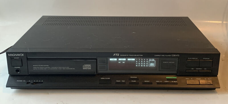 MAGNAVOX CDB-473 CD Compact Disc Player. Made in Belgium Tested Working!