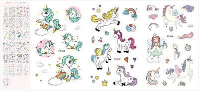 10 X Unicorn Tattoos Temporary Party Decorations Kids Cartoon Pony Sticker US  (Unicorn Tattoo)