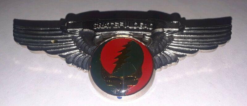 Grateful Dead Steal Your Face Wings Pin / Badge - Large 3""
