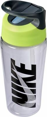 Nike TR Hypercharge Straw Bottle - Sports Water Bottle - Clear/Volt/Black - 16oz