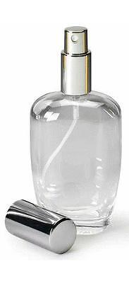 3,20 €/St Parfum Flakon Flasche  10 Stck. 50ml -Zerstäuber Silberfarben Neu