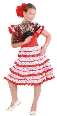 ★ Polkadot Spanierin Spanische Flamenco Tänzerin 98,104,110,116,122,128,134,140 (Spanische Tänzerin Kostüm)