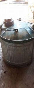 Small galvanized gas can