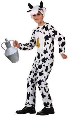 Mädchen Jungen Farm Geburt Tier Kuh Karneval Kostüm Kleid Outfit 3-12 - Farm Mädchen Kostüm