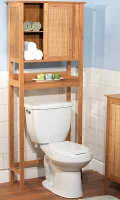 On high Toilet Bathroom Storage Slight feel embarrassed Bamboo Hiatus Saver Over Toilet Society