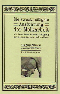 Kühe melken von Hand Melkmethode nach Hegelund Kuh früher melken Reprint