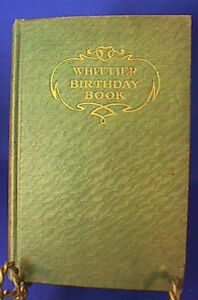 1910-THE-WHITTIER-BIRTHDAY-BOOK-Annie-Russell-Marble-THOMAS-Y-CROWELL-CO