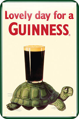 Metal Sign Measures - Guinness Metal Sign Tortoise Measuring about 20cm x 30cm