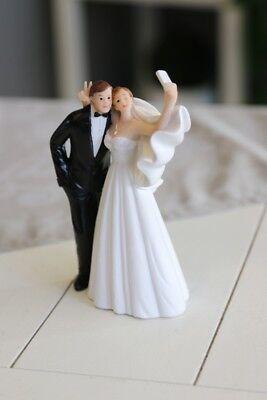 Brautpaar Dekoration Hochzeit Figur Selfie Deko Tortendeko Geschenk Tischdeko  (Hochzeitstisch Dekoration)