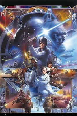 Star Wars Poster  30Th Anniversary  G  Lucas  Licensed  Brand New