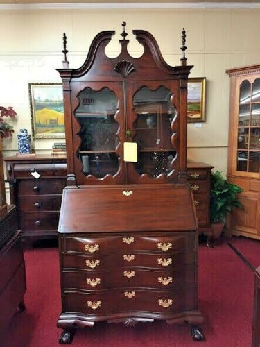 Colonial Furniture Mahogany Secretary Desk - Reproduction Secretary Desk - Deliv