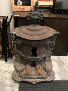 Antique Cast Iron Wood Stove