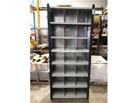 2nd hand boltless shelving with dividers