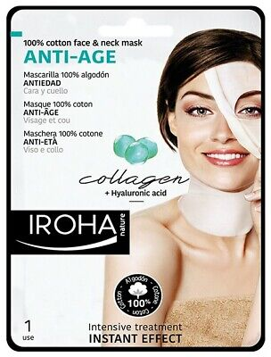 iroha Anti-age mask for face and neck with + 2% COLLAGEN