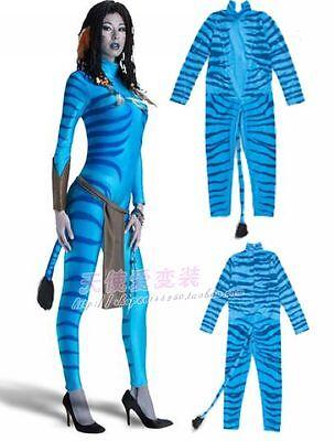 Halloween Disney Fluorescent Color Cat Girl Avatar Alien COSPLAY Film Costume (Girls Avatar Costume)