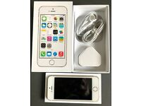 Unlocked iPhone 5s - 16GB - gold - excellent condition with extras.