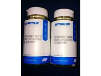 Myprotein vitamin c with bioflavonoids and rosehip. 2x 60 tablets